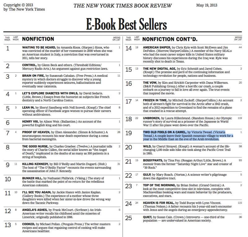NYT Bestseller list May 2013