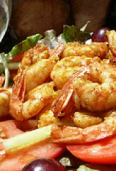 garlic prawns with paprika