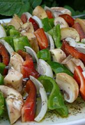 vegetable kebabs for the barbecue
