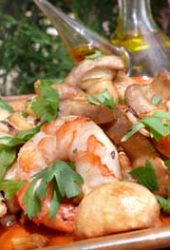 Spanish-Garlic-Prawns-with-Mushrooms